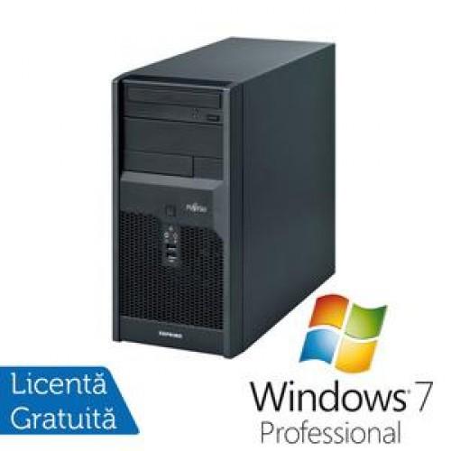 Calculator Fujitsu Siemens Esprimo p2540, Pentium Dual Core E2220, 2.4Ghz, 2Gb, 160Gb, DVD-RW + Win 7 Professional