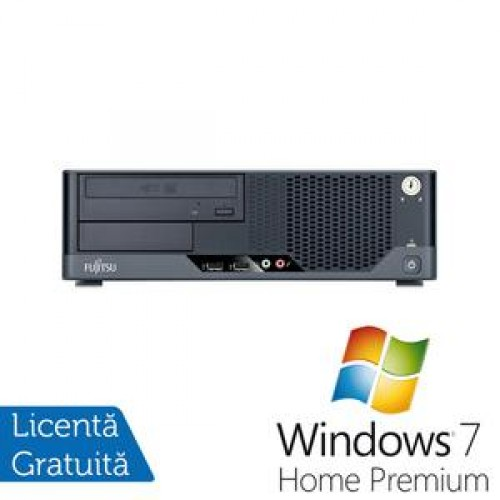 Calculator Fujitsu Siemens Esprimo E5731, Intel Core 2 Quad Q6600, 2.4Ghz, 4Gb DDR3, 160Gb, DVD-RW + Windows 7 Home Premium
