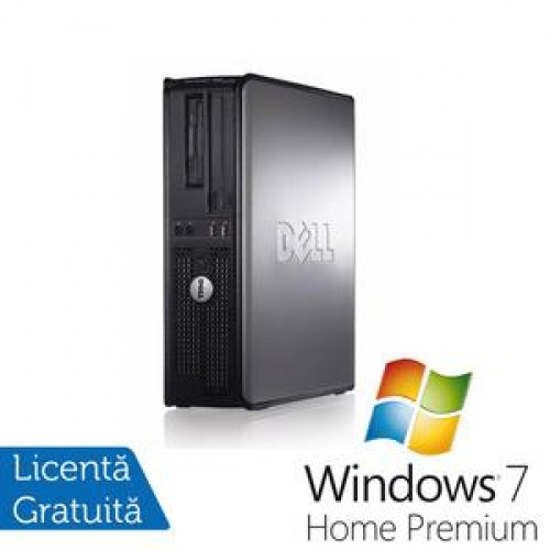 PC Dell Optiplex GX760 Desktop, Intel Core 2 Duo E8400, 3.0Ghz, 4Gb DDR2, 80Gb, DVD-RW + Windows 7 Premium