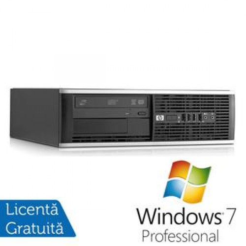 PC HP 6000 Pro SFF, Intel Core 2 Duo E8400, 3.0GHz, 4GB DDR3, 250GB HDD, DVD-RW + Windows 7 Professional
