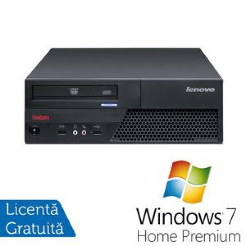 Calculator IBM ThinkCentre M58p, Intel Pentium Dual Core E5200, 2.5Ghz, 4Gb DDR3, 160Gb HDD, DVD-RW + Windows 7 Home Premium