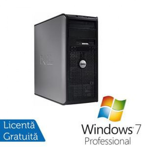 Calculator Dell Optiplex 360, Intel Dual Core E5200, 2.5 Ghz, 2Gb, DDR2, 160GB, DVD-RW + Windows 7 Professional
