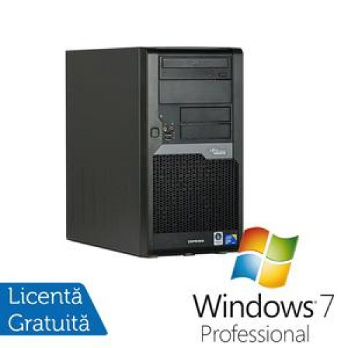 Calculator Fujitsu Siemens Esprimo P5730, Intel Core 2 Quad Q8300, 2.5Ghz, 4Gb DDR2, 320Gb SATA, DVD-RW + Win 7 Professional