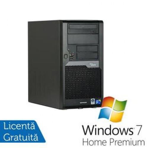 Calculator Fujitsu Esprimo P5730, Pentium Dual Core E5400, 2.7Ghz, 2Gb, 160Gb, DVD-ROM + Windows 7 Home Premium