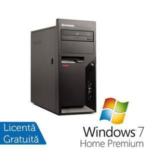 PC Lenovo Thinkcentre M58e Tower, Intel Core 2 Duo E7500, 2.93Ghz, 4Gb DDR2, 160Gb HDD, DVD-RW + Windows 7 Home Premium