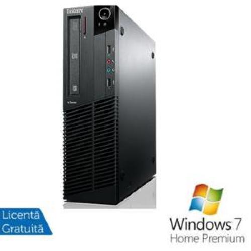 PC Lenovo Thinkcentre M92p SFF, Intel Core i5-3470 Gen 3, 3.2Ghz, 4Gb DDR3, 250Gb HDD, DVD-RW + Windows 7 Home Premium