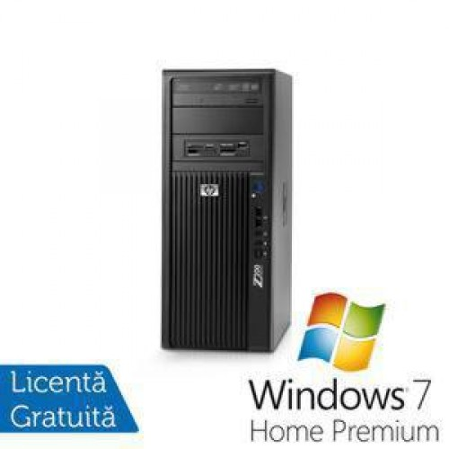 Statie Grafica HP Z200, Intel Core i3-540, 3.06Ghz, 4Gb DDR3, 250Gb HDD, DVD-RW + Win 7 Home Premium