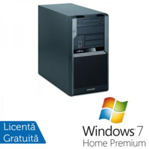 PC Fujitsu CELSIUS W380, Intel Core i5-650 3.2Ghz, 4Gb DDR3, 320Gb SATA NOU, DVD-RW + Windows 7 Home Premium