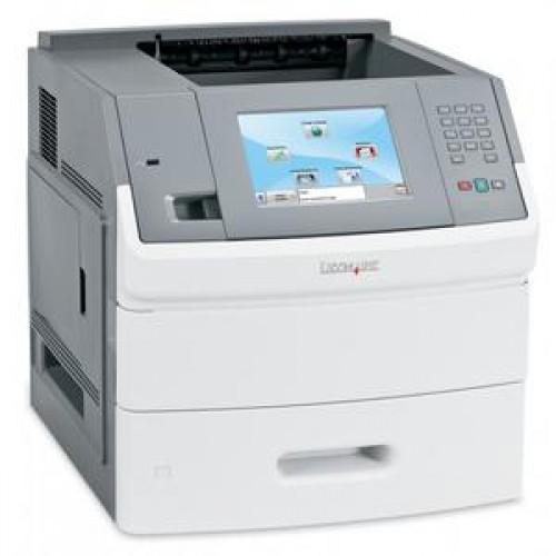 Imprimanta laser monocrom Lexmark T656DNE, Duplex, Retea, 55ppm, Cartus NOU Compatibil 25k