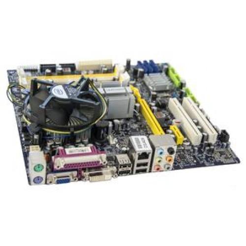 Placa de baza Foxconn Q45M, socket 775 + procesor Intel Pentium Dual Core E5300 2.60Ghz, 2Mb Cache, 800Mhz FSB