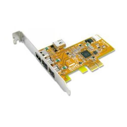 Sunix SH FWB3414G FireWire 2 ext.1394B and 1+1 1394A Ports Card PCI-E x1