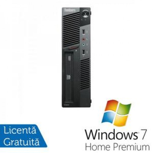 PC Lenovo Thinkcentre M91p USFF, Intel Core i5-2400s 2.5Ghz, 4Gb DDR3, 500Gb HDD, DVD-RW + Windows 7 Home Premium