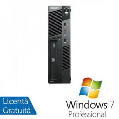 PC Lenovo Thinkcentre M91p USFF, Intel Core i5-2400s 2.5Ghz, 4Gb DDR3, 500Gb HDD, DVD-RW + Windows 7 Professional