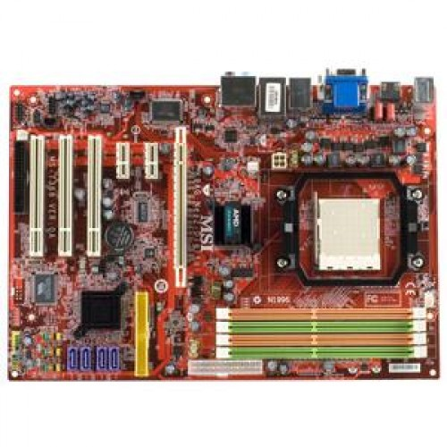 Placa de Baza MSI K9AG NEO2-DIGITAL + CPU AMD x 2, 5200, Socket AM2, ATX, Slot PCI-E X1, Slot PCI-E nefunctional + Cooler