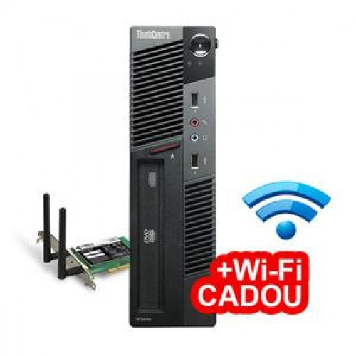 PC Lenovo Thinkcentre M91p USFF, Intel Core i5-2400s 2.5Ghz, 8Gb DDR3, 500Gb HDD, DVD-RW + Wi-Fi