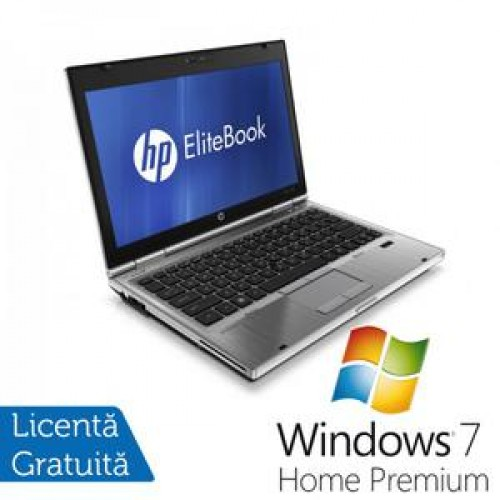 Laptop Hp EliteBook 2560p, Intel Core i5-2520M 2.5Ghz, 4Gb DDR3, 320Gb SATA, DVD-RW, 12,5 inch  + Win 7 Home Premium