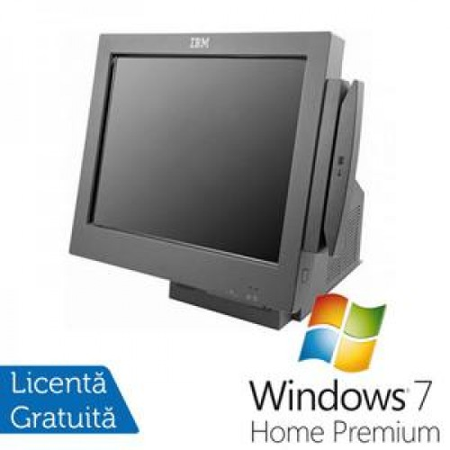 Sistem POS IBM 4846-565, Intel Celeron 2.53Ghz, 2Gb DDR2, 80Gb HDD, Display 15 inch TOUCH SCREEN + Windows 7 Home Premium