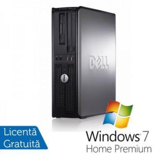 Calculatoare Dell Optiplex GX760 SFF, Intel Core 2 Duo E8400, 3.0Ghz, 4Gb DDR2, 160Gb SATA, DVD-RW + Windows 7 Home Premium