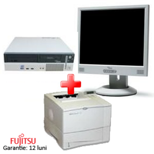 Sistem Second Fujitsu E600, Pentium 4  2.6 Ghz,512 Ram,40 HDD+ LCD+Imprimanta