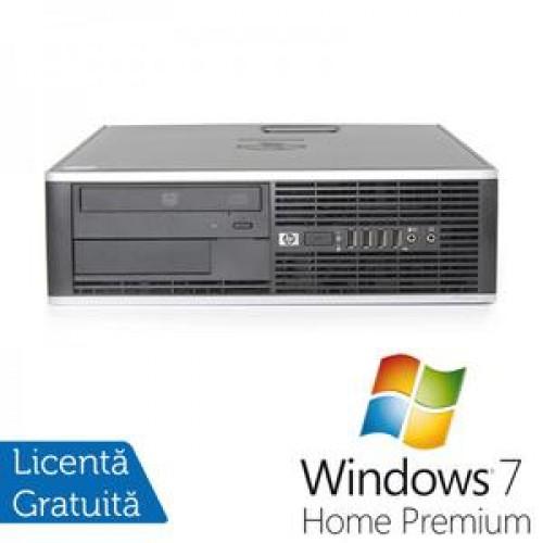 Calculator HP Compaq 8000 Desktop, Intel Core 2 Quad Q6600 2.40GHz, 4Gb DDR3, 250Gb, DVD-ROM + Windows 7 Home