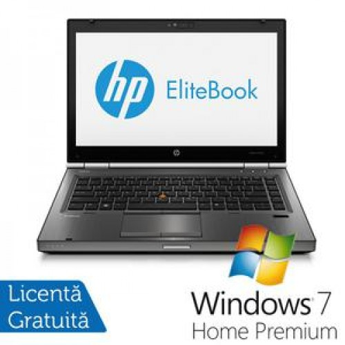 Hp EliteBook 8470p, Intel Core i5-3210M Gen. 3, 2.5GHz,8Gb DDR3. 320Gb SATA, DVD-RW, 14 inch LED-Backlit HD + Windows 7 Home Premium