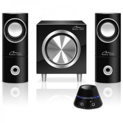 Sistem 2.1 Media-Tech, 3 canale, Negru, Volume controller