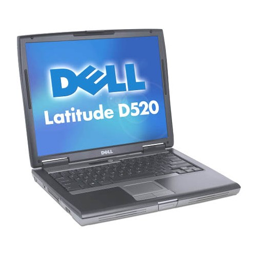 Laptop SH Dell Latitude D520 Core 2 duo T5500 1,66ghz, 1Gb DDR2 , 60Gb SATA, DVD-RW, 14 inci LCD