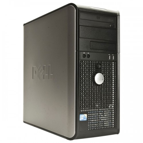 PC SH Dell Optiplex 360 Tower, Intel Dual Core E5300, 2.6 Ghz, 2Gb, DDR2, 160GB, DVD-RW