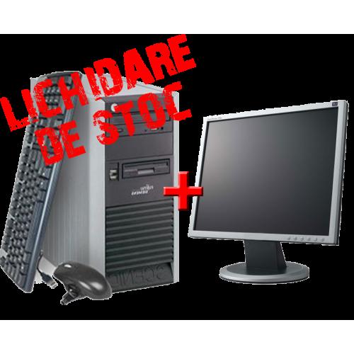 Calculator Fujitsu Scenic P3510 ,Core 2 Duo 2.0 GHz E4400  2GB DDR2, 80GB HDD,Unitate Optica DVD-ROM cu Monitor 17 inch  ***