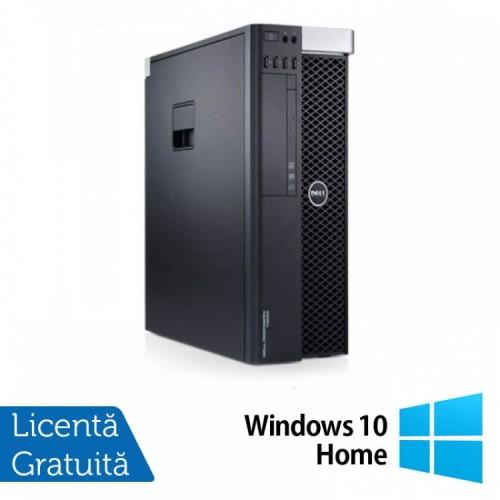 Workstation DELL Precision T3600 Intel Xeon Hexa Core E5-1650 3.20GHz-3.80GHz, 24GB DDR3 ECC, 2TB HDD SATA + 120GB SSD SATA, DVD-ROM, Placa video NVIDIA QUADRO 2000 1GB/GDDR5 + Windows 10 Home