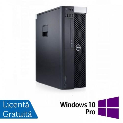 Workstation DELL T3600 Xeon Hexa Core E5-1650 3.20GHz , 8GB DDR3 ECC, 500GB HDD , DVD,  Quadro NVS300 1GB GDDR3 + Windows 10 Pro
