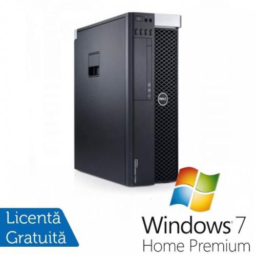Workstation DELL T3600 Xeon Hexa E5-1650 3.20GHz-3.80GHz, 8GB DDR3 ECC, 500GB HDD, DVD-ROM, Nvidia NVS300 1GB GDDR3 + Windows 7 Home Premium