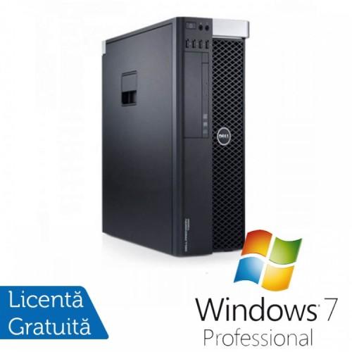 Workstation DELL Precision T3600 Intel Xeon Hexa Core E5-1650 3.20GHz-3.80 GHz, 16GB DDR3 ECC, 1TB HDD SATA, DVD-ROM + NVIDIA QUADRO 2000/1GB/GDDR5 + Windows 7 Professional