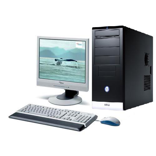 Sistem PC Gigabyte GZ-KX1 Second Hand, Intel Core 2 Duo E8400 3.0GHz, 2Gb DDR2, 160Gb HDD, DVD-RW cu Monitor LCD