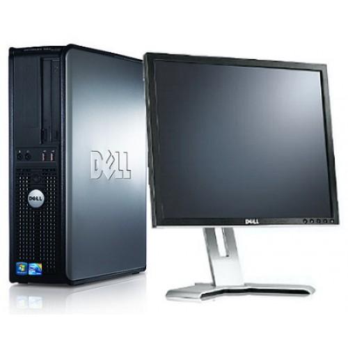Pachet Dell Optiplex 780 SFF, Intel Core 2 Duo E8400, 3.00Ghz, 2Gb DDR3, 80Gb HDD Sata, DVD-RW cu Monitor LCD  ***