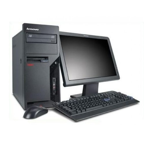 PC Lenovo Thinkcentre M58e Tower, Intel Core 2 Duo E8400, 3.00Ghz, 4Gb DDR3, 250Gb HDD, DVD-RW cu Monitor LCD