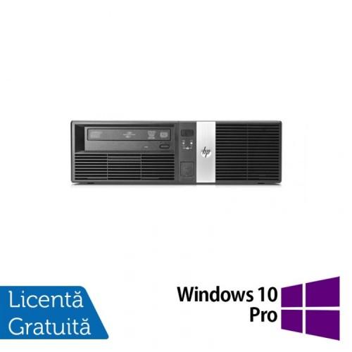 Calculator HP RP5700 SFF, Intel Pentium E2160 1.80GHz, 2GB DDR2, 160GB SATA, DVD-RW, 2 Porturi Com + Windows 10 Pro, Refurbished