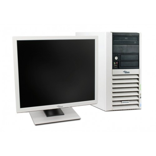 Pachet PC Fujitsu P5915 Intel Core 2 Duo E4300 1,8GHz , 80Gb SATA , 2Gb  DDR2, DVD-ROM + Monitor 15 inch LCD ***