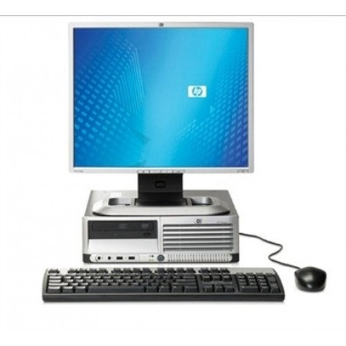 Calculator HP DC7700p Ultra Slim, Intel Core 2 Duo E6300 1.86GHz, 2Gb DDR2, 160 GB, DVD-ROM cu Monitor 15 inch LCD ***