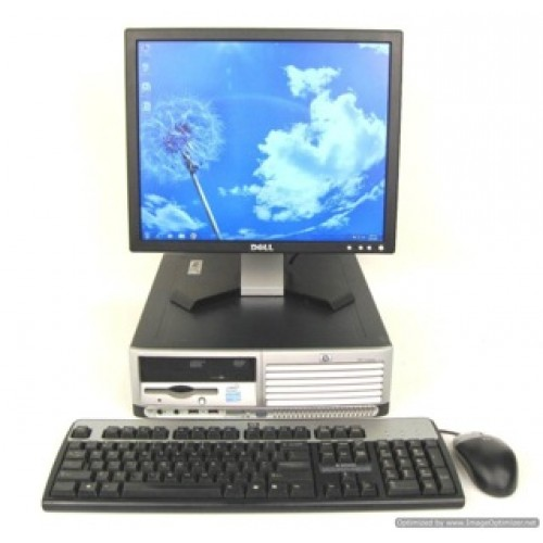 PC HP DC5100, Intel Pentium 4, 3.0GHz, 2Gb DDR2, 80Gb HDD, DVD-ROM cu Monitor LCD  ***