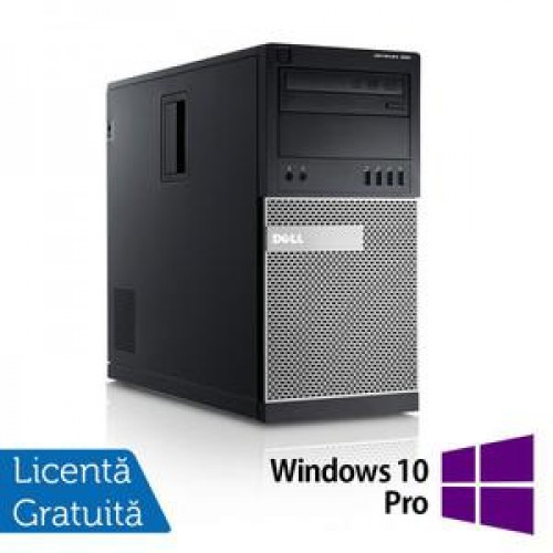 Calculator DELL GX990 Tower, Intel Core i5-2500, 3.30 GHz, 8GB DDR3, 320GB SATA, DVD-RW + Windows 10 Pro