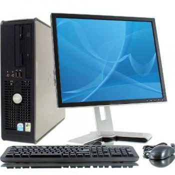 Sistem PC Dell Optiplex 780 SFF Intel Core2Duo E5700 3.0GHz, 2GbDDR3, 160GbHDD, DVD cu monitor LCD