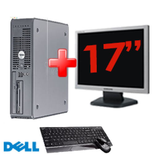 Pachet PC DELL Desktop OptiPlex GX520, Procesor Celeron 3.0GHz, Memorie 1GB DDR2, 40GB HDD, DVD-ROM + Monitor LCD17 Inch***