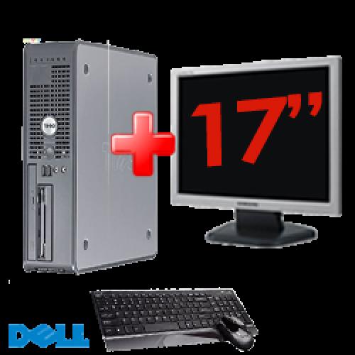 Pachet PC DELL Desktop OptiPlex GX520, Procesor Celeron 3.0GHz, Memorie 1GB DDR2, 40GB HDD, DVD-ROM + Monitor LCD17 Inch***