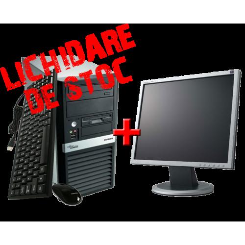 Calculator SH Fujitsu Siemens Scenic P5720 C2D E8200, 2.67 Ghz, 80Gb SATA, Memorie 2048Mb DDR2, DVD-ROM cu Monitor 17 inch ***