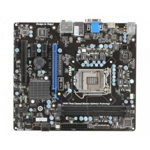 Placa de baza MSI H61M-E33, DDR 3, SATA, Socket 1155 + Shield