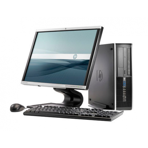 PC HP Elite 6000 Pro Desktop, Intel Core 2 Duo E7500, 2.93GHz, 2GB DDR3, 250GB HDD, DVD-RW cu Monitor LCD