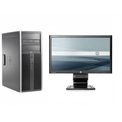 Pachet PC+LCD HP 8200 Elite MiniTower, Intel Core i5-2500 3.3GHz, 4GB DDR3, 250GB SATA, DVD-ROM
