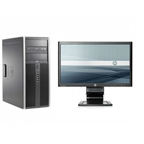 Pachet PC+LCD HP Compaq 8000 Elite Tower, Intel Core2 Duo E8400, 3.0GHz, 4 GB DDR 3, 250GB SATA, DVD-RW
