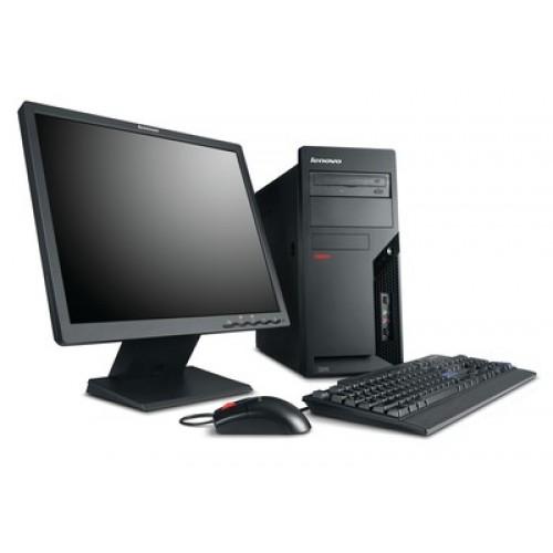 Pachet PC+LCD Tower Lenovo ThinkCentre M58p, Intel Core 2 Duo E8500 3.16Ghz, 2Gb DDR3, 160Gb HDD, DVD-RW